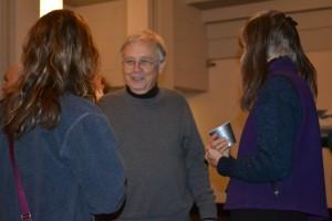 Roger receiving guests