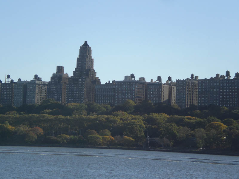 View from a boat on the Hudson River, October 2013