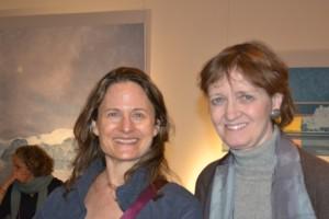 Upcoming artist, Yael Dresdner with Kathy Ralph